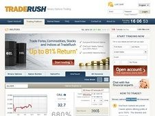 Traderush binary options trading strategy