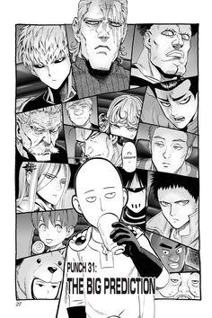 One-Punch Man, Chapter The Big Prediction One Punch Man Memes, One Punch Man Workout, One Punch Man Funny, One Punch Man Manga, Opm Manga, Manga Anime, Anime One, Manga Art, Anime Stuff