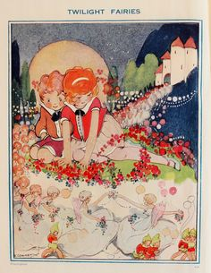 ''Bo-Peeps Bumper Book'' 1932. Hilda Cowham illustration