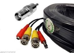 Wennow Premium Quality 200Ft Video Power BNC RCA Cable for Night Owl CCTV Security Camera