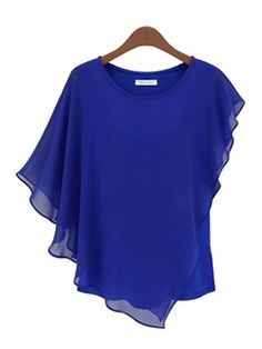 ericdress.com offers high quality  Ericdress Falbala Hem Pure Color  Blouse Chiffon Blouses unit price of $ 8.99.