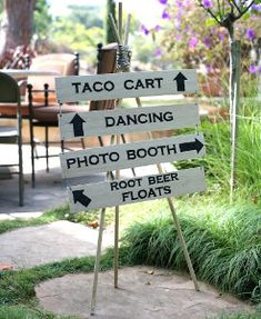 Outdoor Wedding Wood Sign