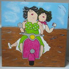 Dikke Dames schilderijen - www.tekstkadoshop.nl