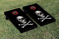 Skull And Crossbones Cornhole Bean Bag Toss Game, 2015 Amazon Top Rated Bean Bag Game Sets #Sports