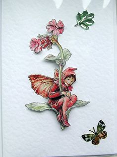 Campion Fairy HandCrafted 3D Decoupage Card  by SunnyCrystals, £1.55