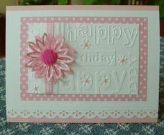 happy birthday embossing folder....