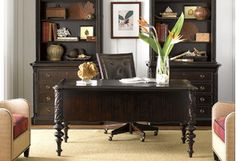 With their functional details and elegant finishes, these home office essentials keep you motivated. Pair a cherry-finished desk with a leather office chair for an ultra-sophisticated space, then tie the look together with neutral-hued rugs and Tiffany-style table lamps.http://www.wayfair.com/daily-sales/Traditional-Office-Designs~E13774.html?refid=SBP.rBAZEVPVJL16EipJK1DVAjxaX5EsP0aitjotTRXBgQw