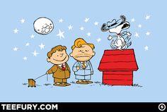 Conan O'brien and Peanuts mash-up tee, available 12/30 at teefury.com!