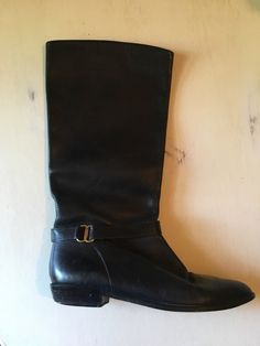 A personal favorite from my Etsy shop https://www.etsy.com/listing/488988821/vintage-black-leather-boots-fall-trends