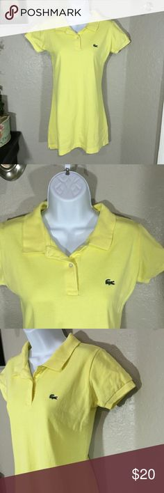 "Girls Lacoste Yellow Polo Dress Size 5 Great pre-loved condition 100% cotton Chest - 17"" laying flat Length - 29.5""  **Size says 5, but it looks bigger than a 5 to me, if more measurements are needed let me know** Lacoste Dresses Casual"