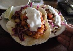 Fish Tacos Recipe -  Yummy this dish is very delicous. Let's make Fish Tacos in your home!