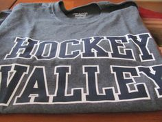 Hockey Valley T-Shirt (M and XL Available!)- Come to our Toys for Tots Happy Hour and Silent Auction for your chance to win this! All proceeds benefit the #PSU Chapter Scholarship Fund. Event details at http://pennstatecnj.com