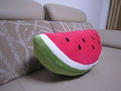 60cm plush watermelon cushion plush watermelon pillow girl's gift home decoration birthday gifts one piece free shipping US $16.99