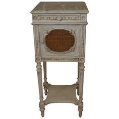 Louis XVI Style Painted Nightstand or Side Table