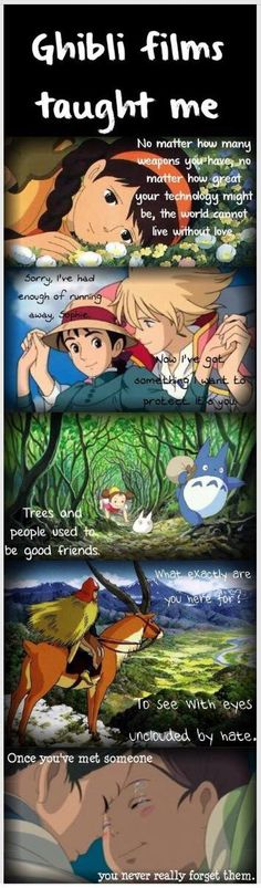Things Ghibli films taught me