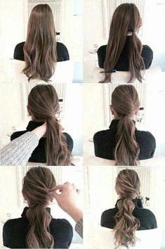 New Matte Ombre ideas for diversifying classic brown and blond ombre hair - Alles - Wedding Hairstyles Blond Ombre, Up Hairstyles, Pinterest Hairstyles, Easy Work Hairstyles, Beautiful Hairstyles, Ponytail Hairstyles Tutorial, Wedding Hairstyles, Updo Diy, Office Hairstyles