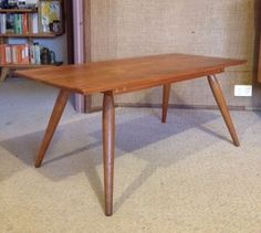 mid century coffee table tessa t4 large retro vintage fred lowen