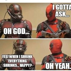Lol Ant-man and Deadpool. Follow for more #geektent all day everyday. Repost…