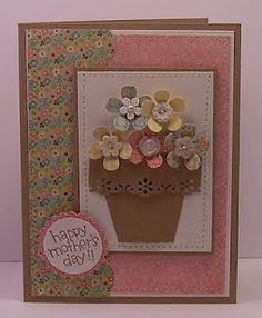 Flower pot card-love the flower pot
