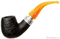 Peterson Rosslare Royal Irish Black Sandblasted (XL90) Fishtail Pipes at Smoking Pipes .com