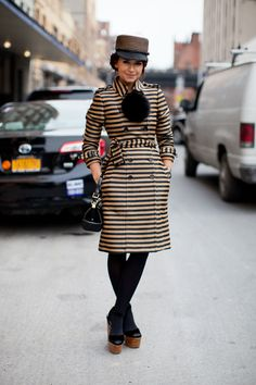 Oh let's look at this again shall we? The reigning princess of fab, Miroslava Duma comes out full force in Burberry. Congratulations on being you #NYFW