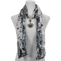 24 best scarf pendant jewelry images on pinterest pendant jewelry crinkle floral scarf with rose pendant 22 aloadofball Choice Image