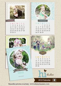 Calendar templates 2013 - PSD for photographers Baby Calendar, Calendar 2020, Calendar Ideas, Free Calendar Template, Cereal Magazine, Baby Album, Calendar Design, Printable Designs, Banner Design
