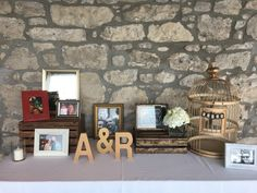Receiving table set-up. Decor.