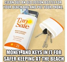 Great idea to secure beach items!
