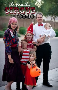 A circus family is a great costume idea for the creative kind.