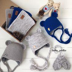 Мы тут с моими помощниками  покажем вам мишуткины комплекты для мальчишек #lavka_petelka #любовь_с_первой_петельки Crochet Clothes, Crochet Hats, Crochet For Boys, Head Wraps, Crochet Bikini, Winter Hats, Homemade, Knitting Ideas, Fashion