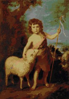 Gráfico a punto de Juan el bautista de niño, de Murillo.