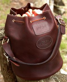 Leather Shotgun Ammunition Bag - Orvis Sandanona Leather Shell Bucket -- Orvis UK on Orvis.com!