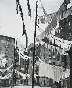 Berenice Abbott Court of the First Model Tenement, 1936 gelatin silver print, 91/2 x 71/2 inches