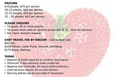 Buffet Setup Pricing