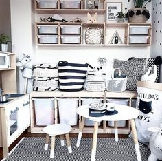 home decor ikea Interior deign inspiration to create the perfect playroom with designs for kids rooms that will grow with your family. Interiors tips and gorgeous rooms to inspire your home decor playroom renovation. Ikea Playroom, Playroom Storage, Playroom Furniture, Playroom Design, Kids Furniture, Ikea Toy Storage, Ikea Kids Room, Playroom Table, Modern Playroom