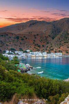 Explore the remote village of Loutro, and the hidden paradise beaches right next to it! #holidays #vacations #sea #crete #greece #islands #thehotel.gr #villa #villas #apartments #hotels #sand #vibes #aesthetics