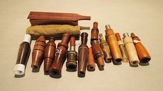 Lot Of 12 Various Game Calls, Duck, Goose, Squirrell, Quaker Boy Turkey, Crow Calls