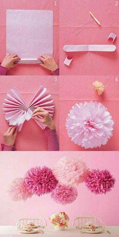 paper flower pon pon