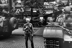 On August Soviet troops along with those from other Warsaw Pact nations—the Soviet version of NATO—invaded Czechoslovakia with the goal of quelling intensifying anti-Soviet protests and restoring order Prague Spring, Thunder Strike, Warsaw Pact, Visit Prague, Prague Czech Republic, Magnum Photos, Cold War, Troops, Old Photos