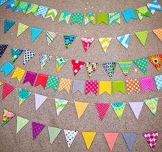 Lots of lovely bunting!