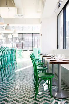 tour this gorgeous green and white bar in seattle | bar melusine via coco kelley