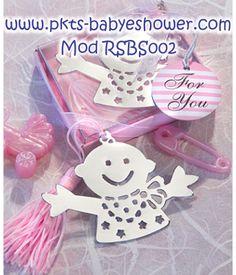 Recuerdos para Baby Shower - Separadores Bebé Rosa - Disponible en www.pkts-babyshower.com