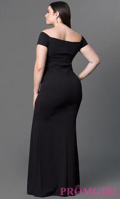 53142b2e13bf3 Lalagen Women's Short Sleeve Rhinestone Plus Size Long Cocktail ...