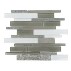 Found it at Wayfair - Yorke Random Sized Glass and Stone Splitface Tile in Gray and White