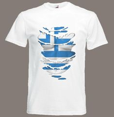 Greek Flag T-Shirt see Muscles through Ripped T-Shirt Greece in all sizes