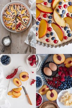 EASY CAKE WITH BERRIES AND PEACHES