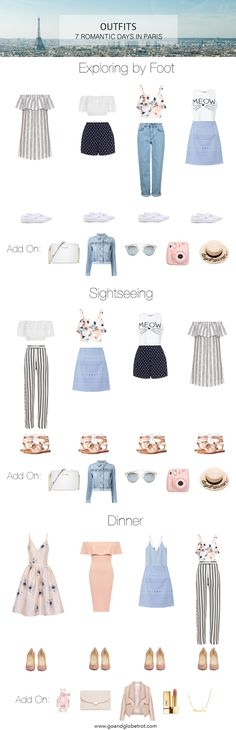 What to Pack - Outfits: A Romantic Week in Paris | goandglobetrot.com