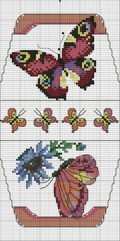 Cross-stitch Butterfly Bag... no color chart available, just use pattern chart as your color guide.. or choose your own colors... ... Gallery.ru / Фото #12 - сумочки игольницы - irisha-ira