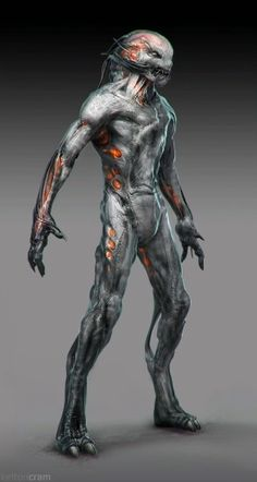 Discover recipes, home ideas, style inspiration and other ideas to try. Humanoid Creatures, Alien Creatures, Fantasy Creatures, Mythical Creatures, Star Citizen, Alien Character, Character Art, Concept Art Alien, Alien Design